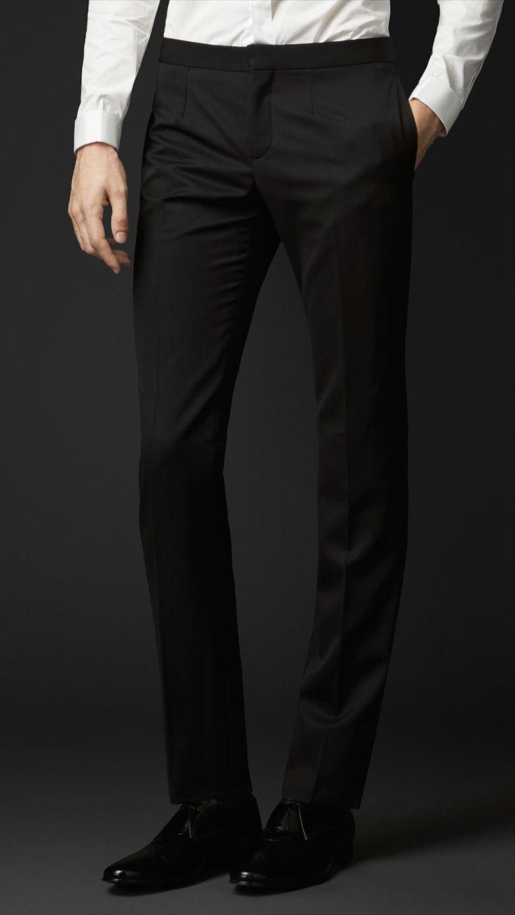Pantalon de smoking en laine vierge | Burberry