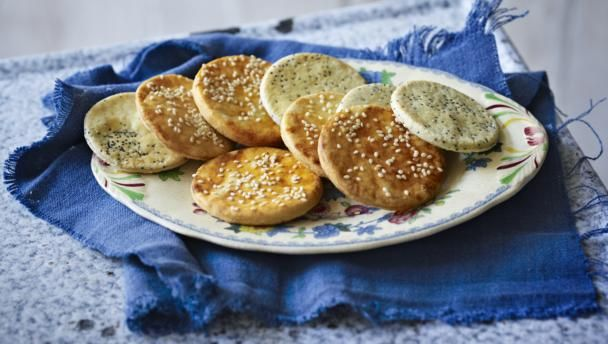 Sun-dried tomato and poppy seed savoury biscuits |      A selection of savoury, buttery biscuits is just what's needed at your next drinks party.