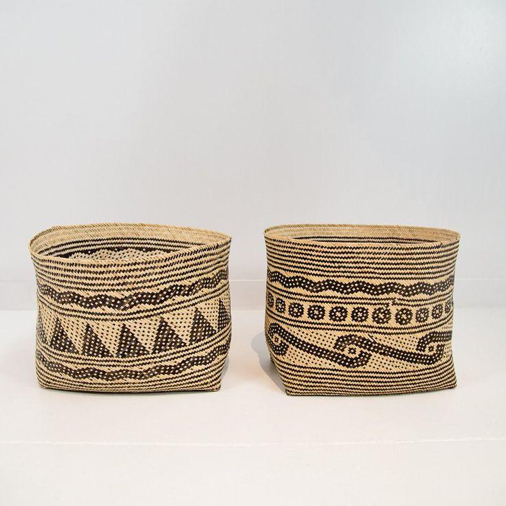 Wide Kalimantan Woven Basket
