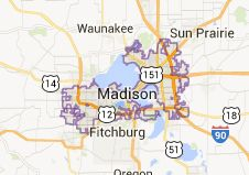 Map of madison wisconsin