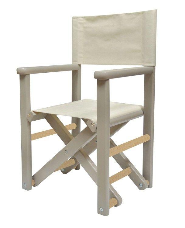 aux couleurs douces cette chaise de metteur en sc ne pour enfant est la fois d corative et. Black Bedroom Furniture Sets. Home Design Ideas