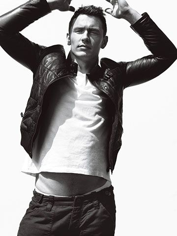 James Franco in his leather jacket