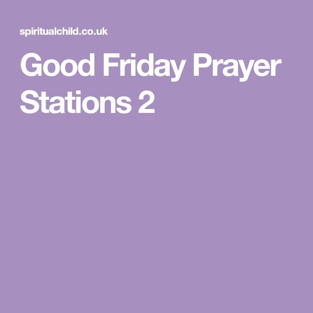 Good Friday Prayer Stations 2