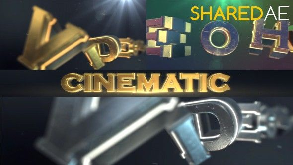 Videohive - Cinematic Logo Text Reveal 17646404 - Free Download