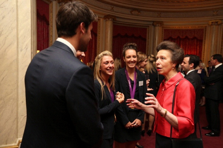 Oct 23 - Anne, Princess Royal meets cyclists Laura Trott and Danielle King during a reception for the Team GB Olympic and Paralympic medalists