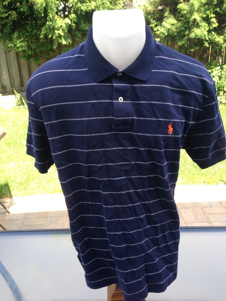 New to MajorDivision on Etsy: Vintage Blue & White Striped Colored Polo by Ralph Lauren (15.00 CAD)