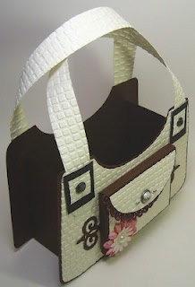 Paper Purse from template, would be a cute party favor holder
