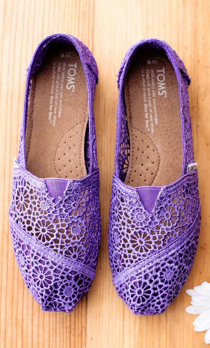 Purple crochet lace | TOMS I have the black ones