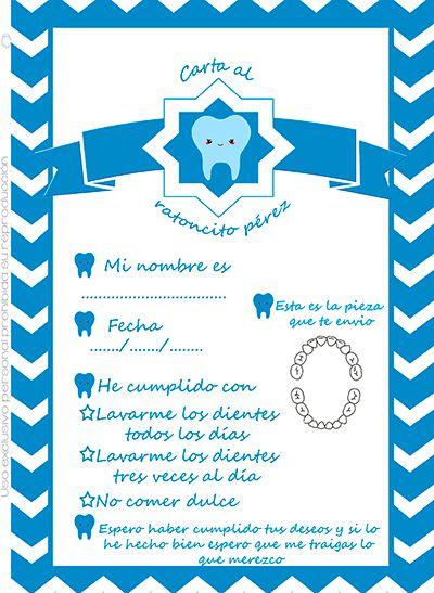 #imprimibles #gratis carta ratoncito pérez para niño