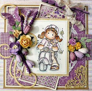 Magnolia stamp...attractive card!!