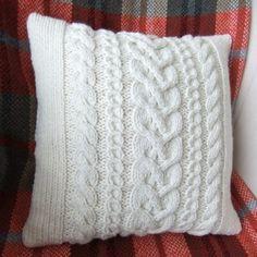 Chunky Hand Knitted Cushion