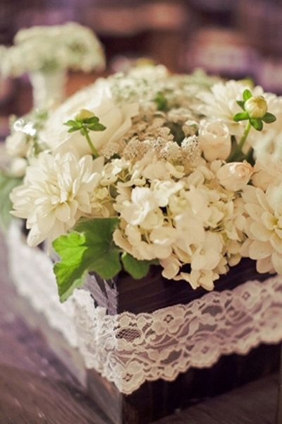 Lace Wedding Flowers