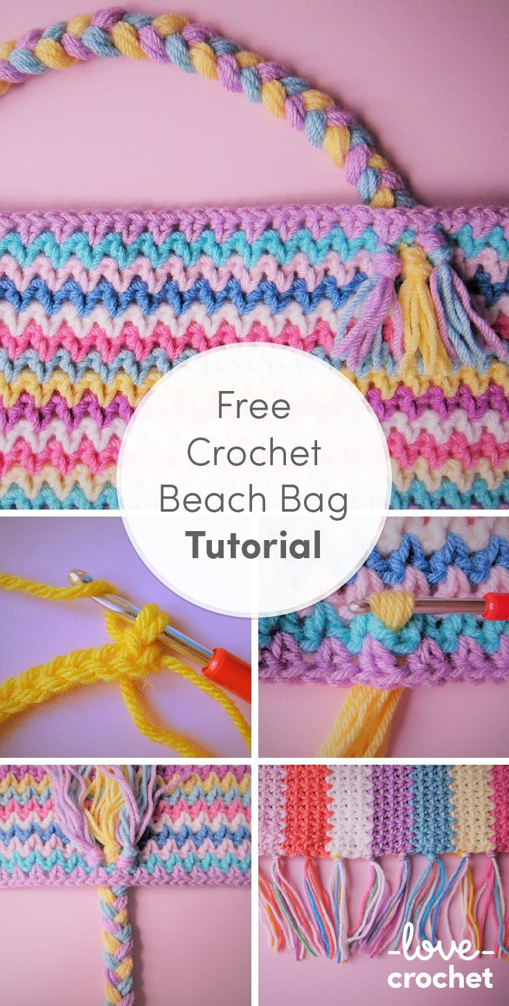 We absolutely love this stripey beach bag, and we know you'll love crocheting it as well! Find the step by step FREE tutorial on the LoveCrochet blog!