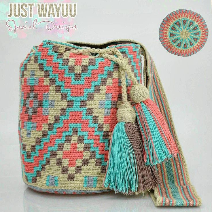 "295 Likes, 6 Comments - Just Wayuu (@just.wayuu) on Instagram: ""Handcrafted handbags made by indigenous wayuu in the north of Colombia. Worldwide shipping – envíos…"""