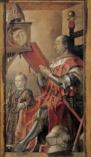 Federico da Montefeltro with his son Guidobaldo - Pedro Berruguete.  c.1477.  Galleria Nazionale delle #Marche, #Urbino, #Italy.