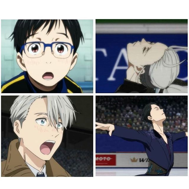 """I look at you and see the rest of my life in front of my eyes."" . . #yurionice #victuri"
