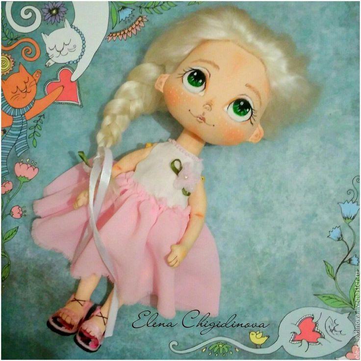 Купить Кукла игровая. Текстильная интерьерная кукла - розовый, авторская кукла, интерьерная кукла, кукла