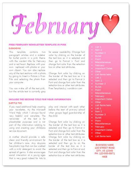 valentines newsletter template