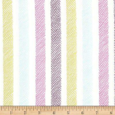 Michael Miller Emma's Garden Sketchy Stripe Violet