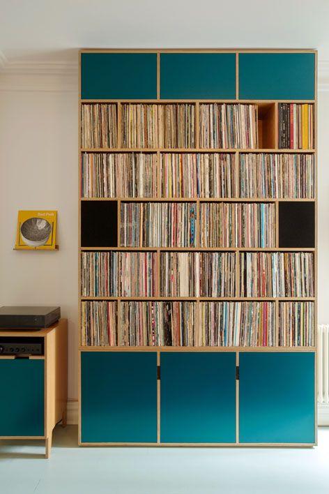 Oak Plywood Record Storage