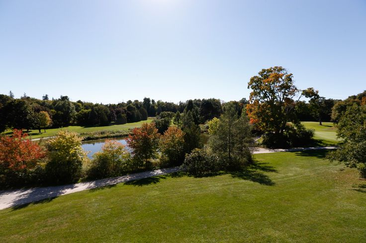 View of the golf course at the Rouge River Community Centre in Markham
