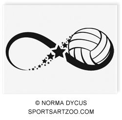 Volleyball Star Infinity Temporary Tattoo by SportsArtZoo  If you want to use this design please pay for it. It is not expensive.