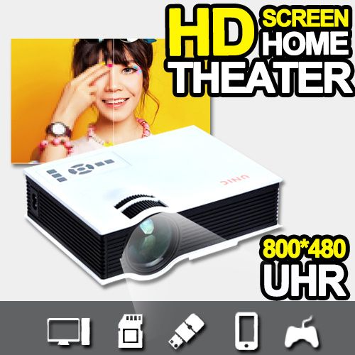 [S$89.00]Watching Film At Home!Mini HD House Use Projector / Large Screen Beam projector/ Movie Projector / Screen projector/Free HDMI UC40 /VGA Cable Free【M18】