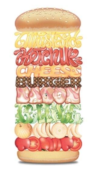 Hamburger Illustrated Word
