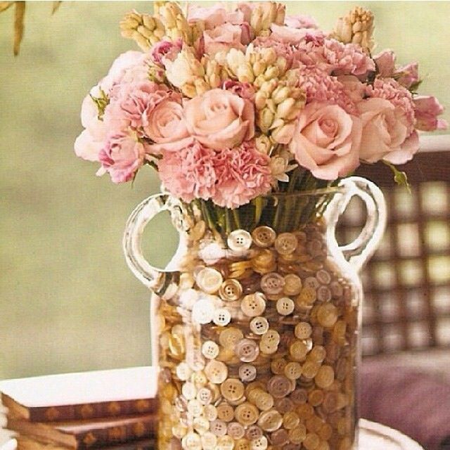 Beautiful flower arrangement with coins