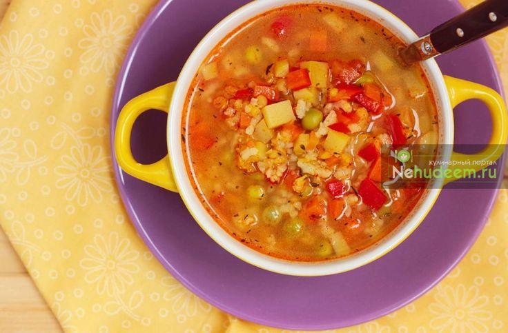 Минестроне с чечевицей и рисом — Кулинарные рецепты с фото