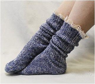 lace boot socks   denim lace slouch socks   Miss Tori combat boot socks   tweed lace cuff socks