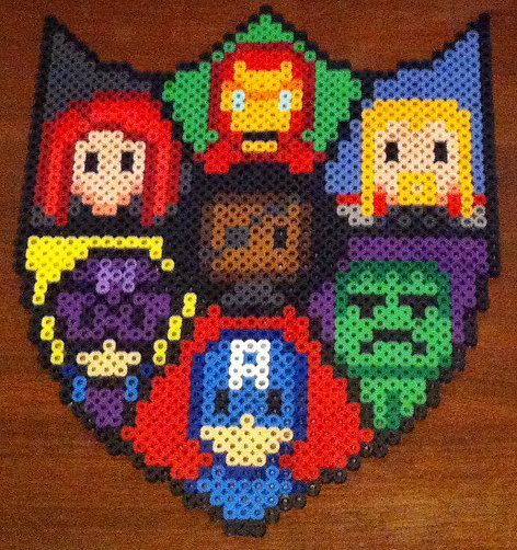 Avengers shield perler beads
