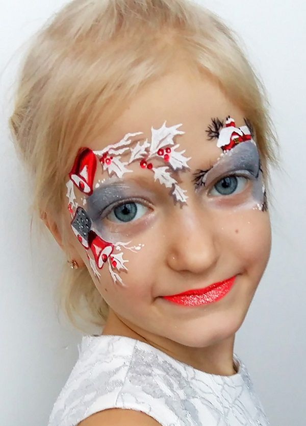 Image result for easy christmas face painting ideas for kids