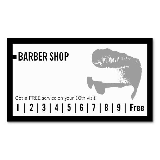 Barber Shop Simple Frame Loyalty Punch Double-Sided Standard Business Cards (Pack Of 100)