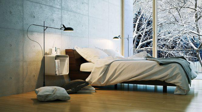 Znalezione obrazy dla zapytania minimalistyczna sypialnia