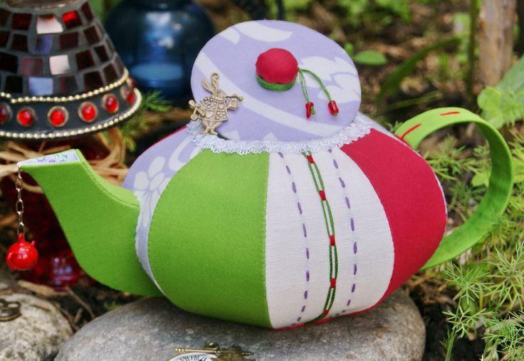 Вox textile, Box for small items. Buy -http://www.livemaster.ru/oksanagerman. Look - http://lavandahouse.blogspot.ru/ Текстильный чайник для чайных пакетиков, конфет или любых маленьких штучек)):