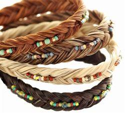 Horse Hair Two Tone Beaded Bracelet