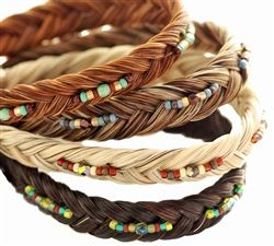 Horse Hair Two Tone Beaded Bracelet