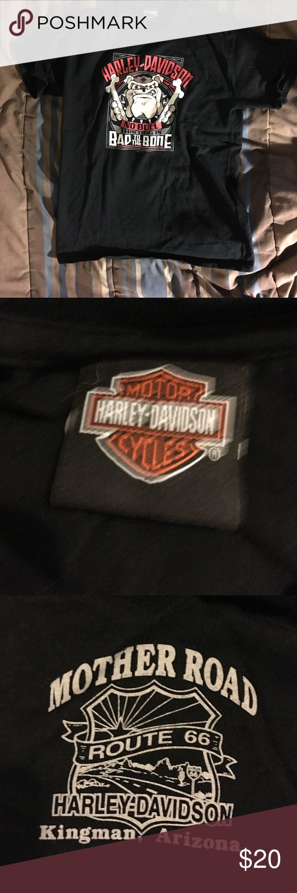 Boys Harley Davidson t shirt Mother road route 66 Shirts & Tops Tees - Short Sleeve