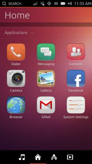 Ubuntu Touch - 03.1 - Dash - Home