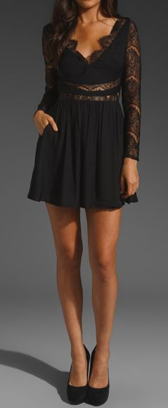 Gorgeous black lace skater dress!