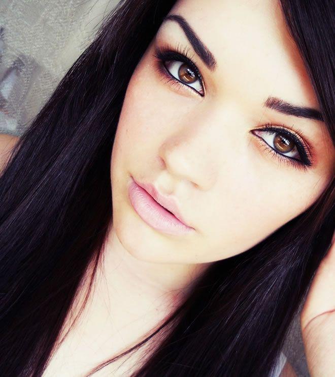brown eye makeup images