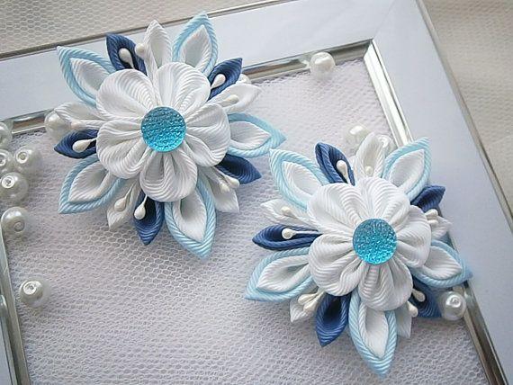 Handmade Kanzashi ladies girls hair clips - buy in UK, shipping worldwide