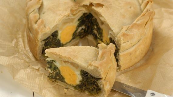 Итальянский пирог со шпинатом, пошаговый рецепт с фото
