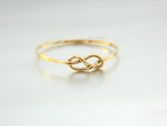 VALENTINE'S DAY GIFT Gold Infinity Love Ring, Engagement Ring, 14K Solid Gold Ring, Knot Ring, Friendship Ring, Love Ring