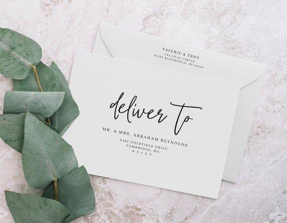 Printable Envelope Address Template Editable Wedding Etsy Envelope Addressing Template Addressing Envelopes Printable Envelope