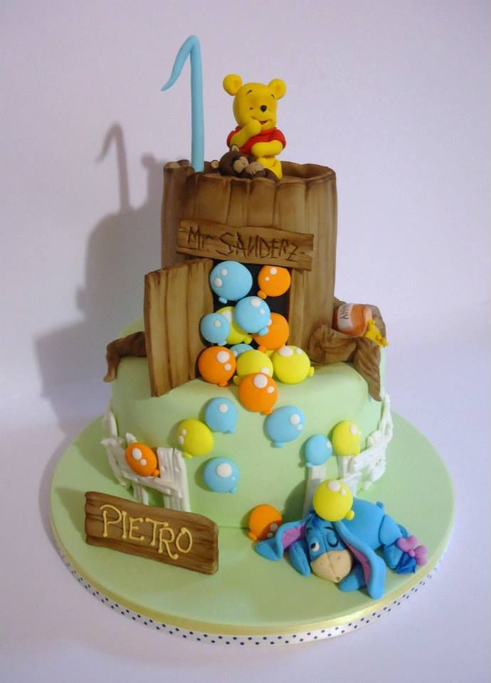 Pooh Bear Cake Design : 1000+ images about Cakes -Winnie the Pooh and Masha & the ...