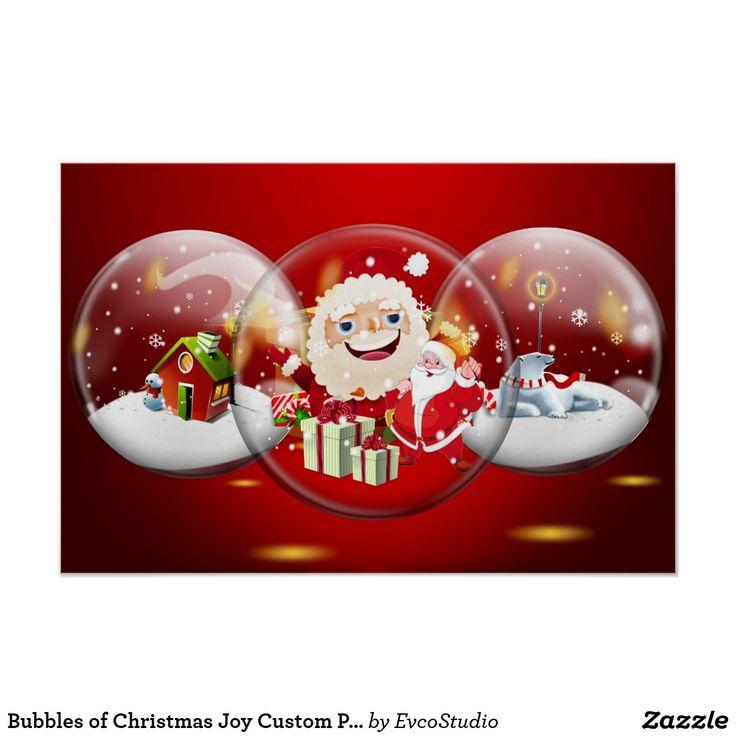 Bubbles of Christmas Joy Custom Poster