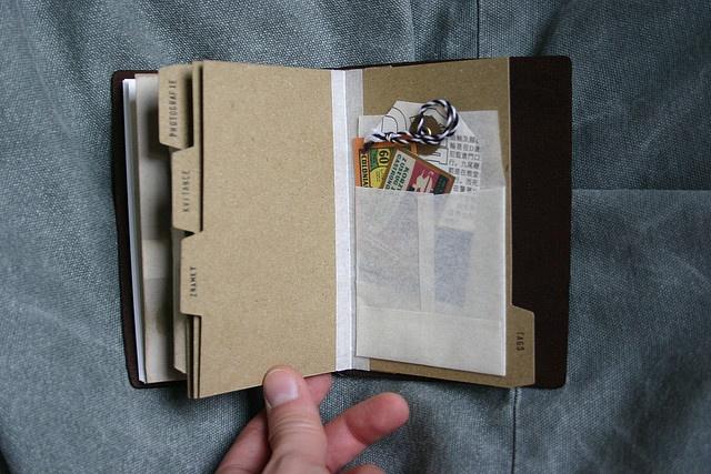 Midori Travelers Notebook.  Create Index Tabs
