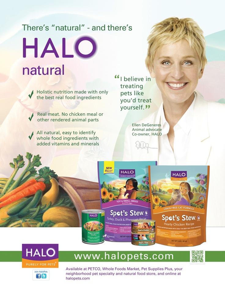 Halo Cat Food Ellen Degeneres